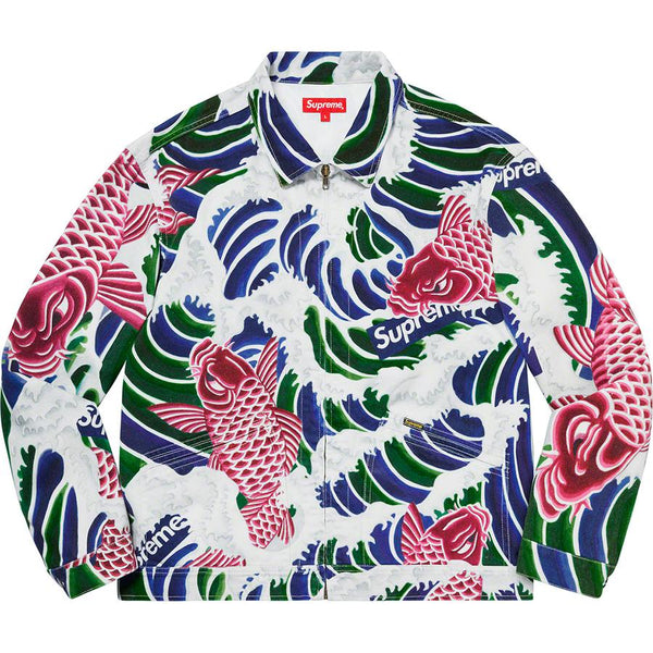 Supreme Waves Work Jacket | Waves Never Die | Supreme | Jacket