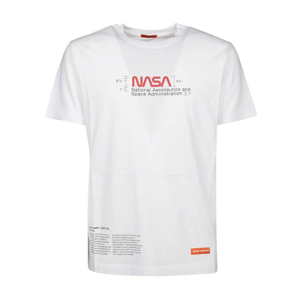 Heron Preston Regular Manual T-Shirt (White) - Waves Never Die