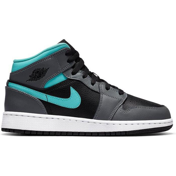 Nike Air Jordan 1 Mid GS 'Grey Aqua' | Waves Never Die | Nike | Sneakers