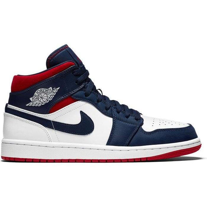 Nike Air Jordan 1 Mid GS 'USA Olympic' | Waves Never Die | Nike | Sneakers