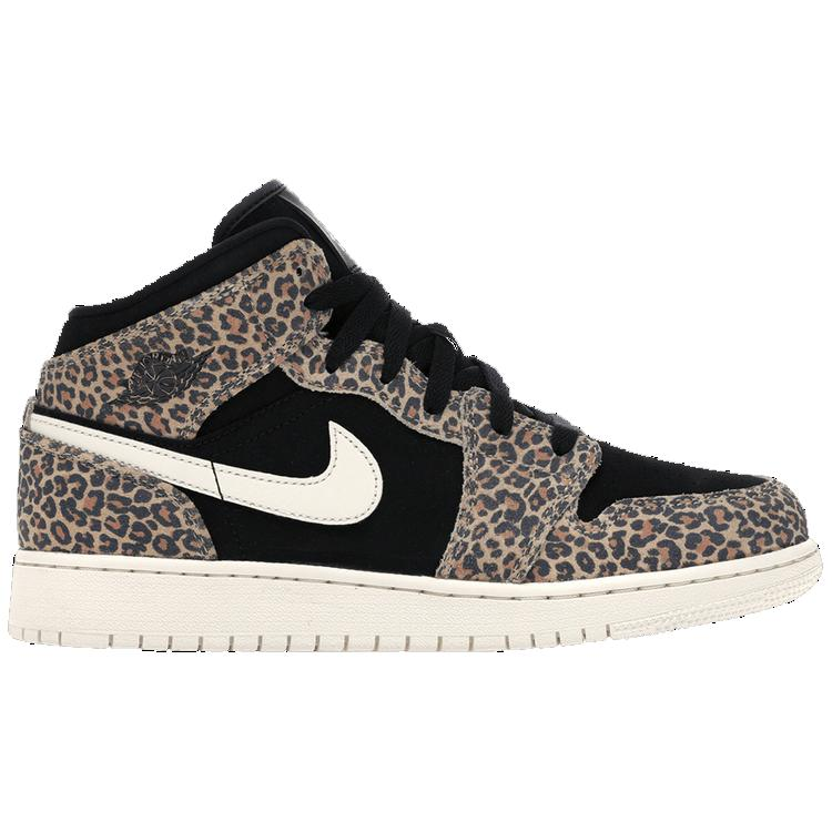 Nike Air Jordan 1 Mid GS 'Leopard' GS | Waves Never Die | Nike | Sneakers