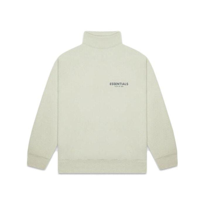 FEAR OF GOD ESSENTIALS Pull-over Mockneck Crewneck Alfalfa Sage | Waves Never Die | Fear of God | Crews and Sweaters
