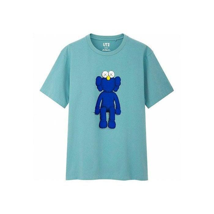 KAWS x Uniqlo Blue BFF Tee - Waves Never Die