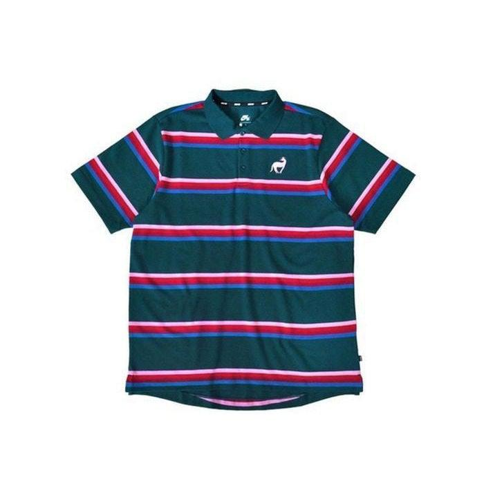 Nike SB x Parra Polo Shirt - Midnight Turquoise / Military Blue / Pink Rise | Waves Never Die | Waves Never Die