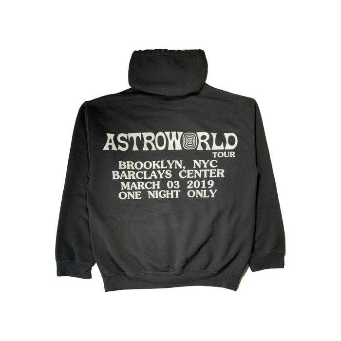 Travis Scott Astroworld Tour Gimmie The Loot Barclays Hoodie Black | Waves Never Die | Travis Scott | Hoodie