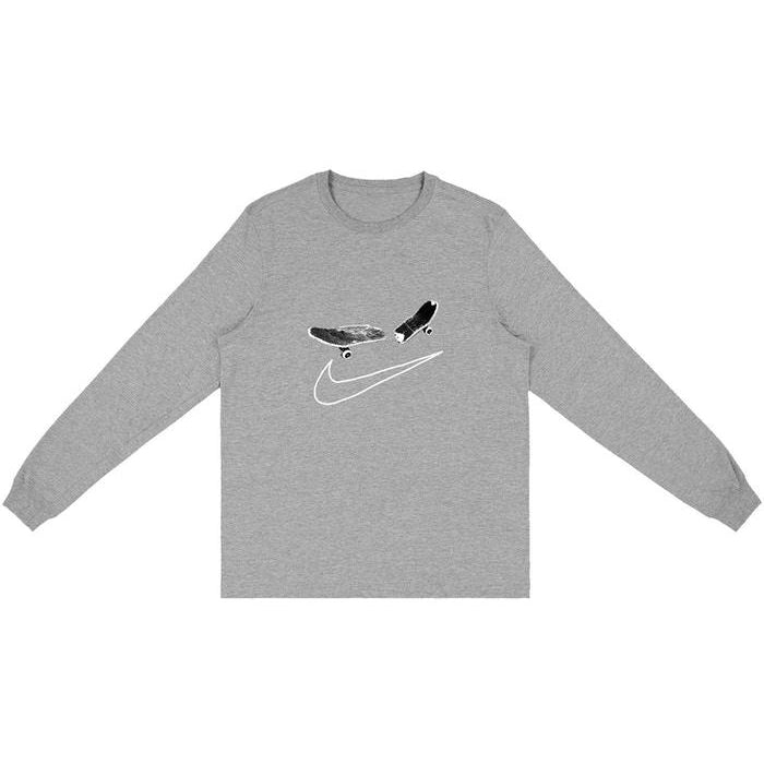 Travis Scott Cactus Jack For Nike SB Longsleeve T-Shirt II Grey | Waves Never Die | Travis Scott | T-Shirt