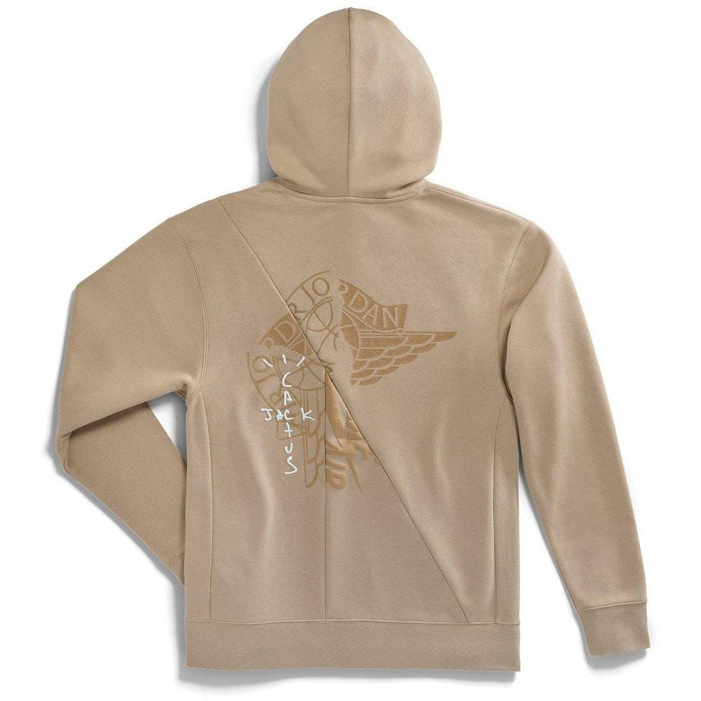Travis Scott Cactus Jack x Jordan Pullover Hoodie Khaki/University Red | Waves Never Die | Travis Scott | Hoodie