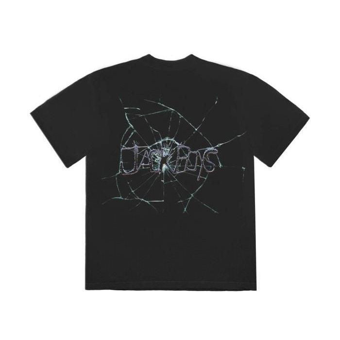 Travis Scott Jack Boys Cracked T-Shirt Black