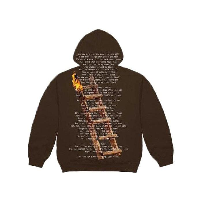 Travis Scott Highest In The Room Not For Decoding Hoodie Brown | Waves Never Die | Travis Scott | Hoodie