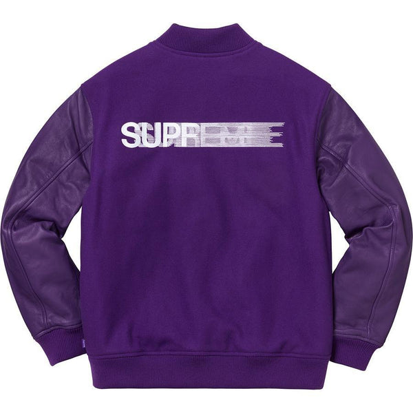 Supreme Motion Logo Varsity Jacket (Purple)
