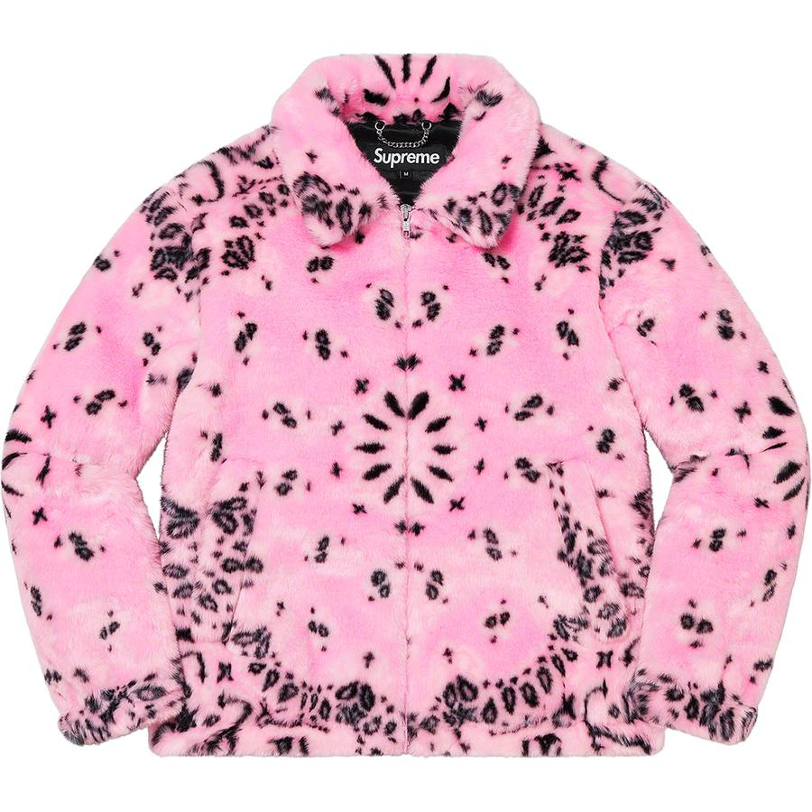 Supreme Bandana Faux Fur Bomber Jacket (Pink) | Waves Never Die | Supreme | Jacket