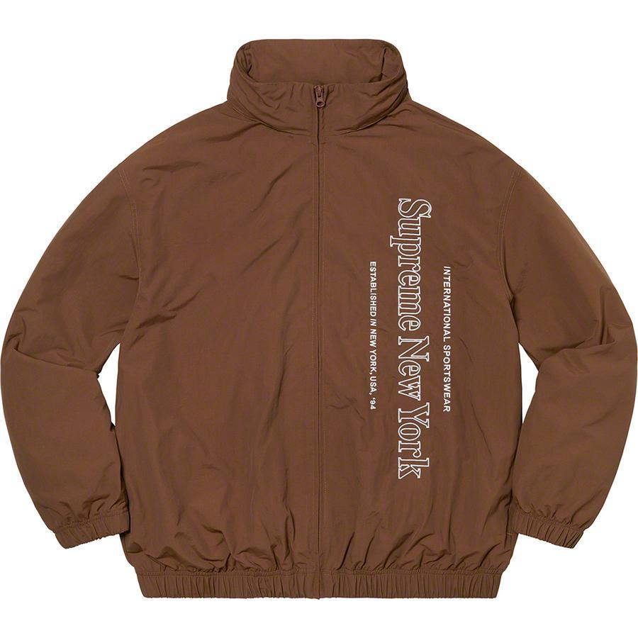 Supreme Side Logo Track Jacket (Brown) | Waves Never Die | Supreme | Jacket