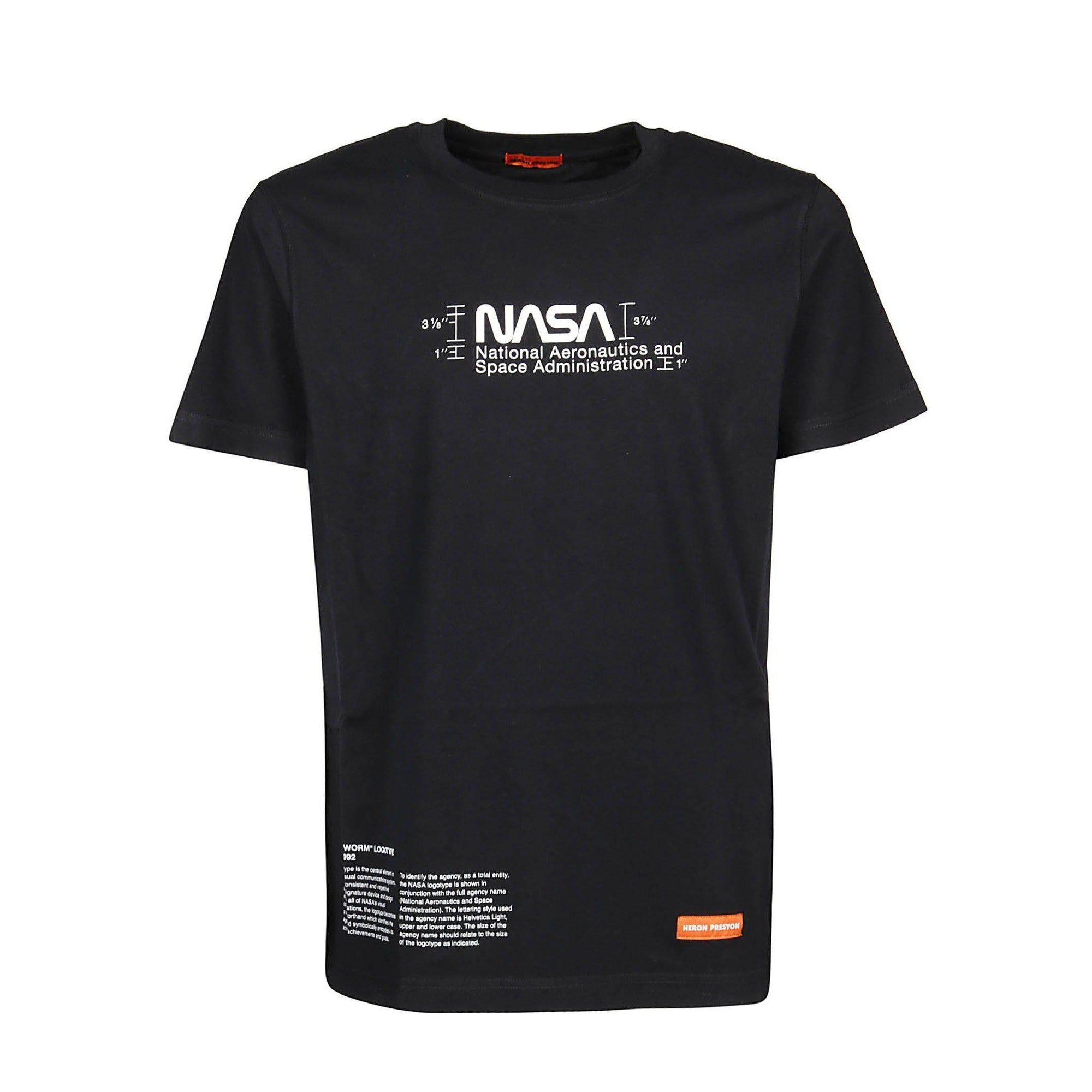 Heron Preston Black Regular Manual T-Shirt - Waves Never Die
