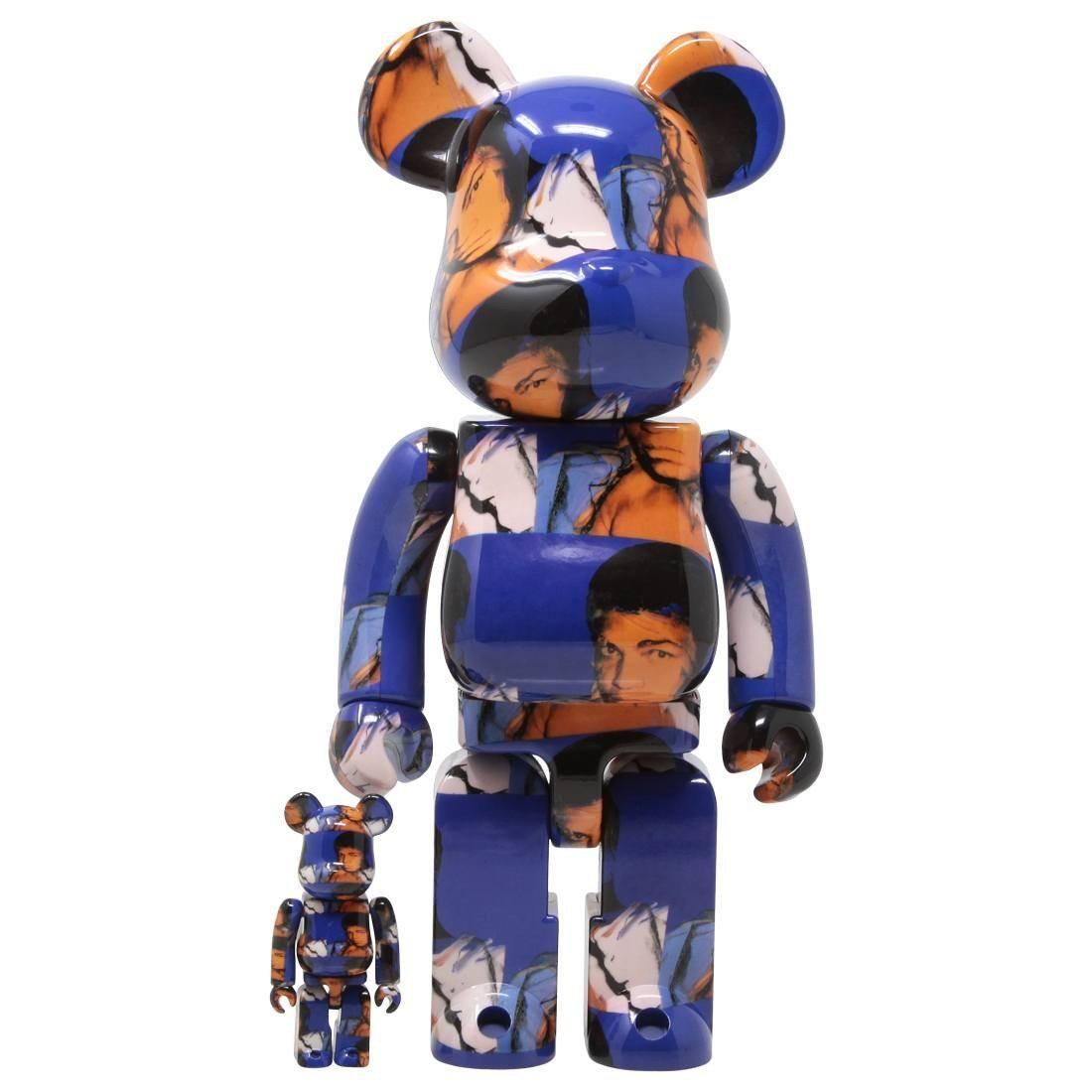 MEDICOM ANDY WARHOL MUHAMMAD ALI 100% 400% BEARBRICK FIGURE SET (BLUE) | Waves Never Die | Medicom | Toy