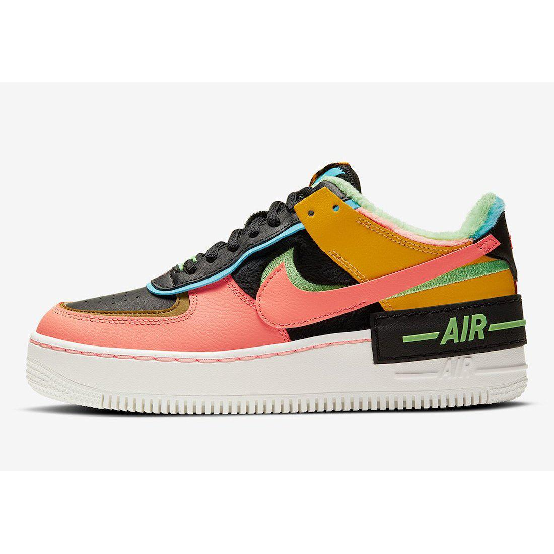 Nike Air Force 1 Shadow Solar Flare Atomic Pink (W) | Waves Never Die | Nike | Sneakers