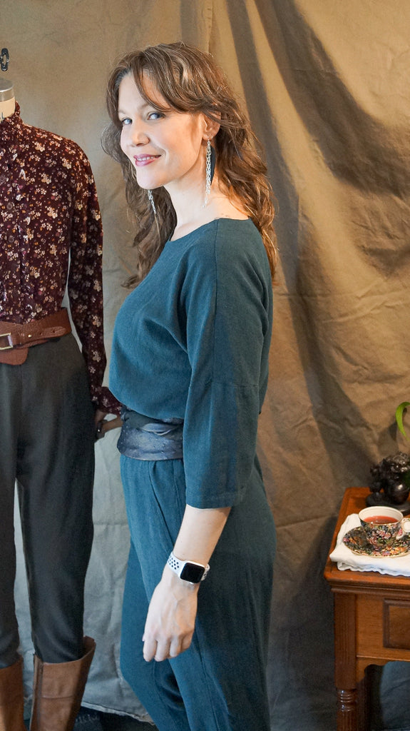 Frocktails Outfit - Wiksten Shift & Free Range Slacks in Tencel/Linen Noil