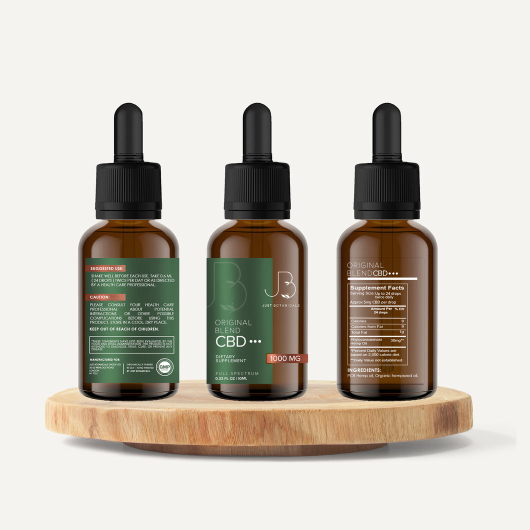 5% Full Spectrum CBD Oil - From £22.99 - Just Botanicals