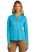 Load image into Gallery viewer, Women's Greg Norman Play Dry® Tulip Neck ¼-Zip