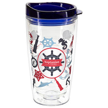 Load image into Gallery viewer, 16 OZ REEF TRITAN  DOUBLE WALL TUMBLER WITH TRANSLUCENT LID