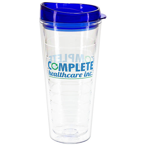 22 OZ SEABREEZE TRITAN DOUBLE WALL TUMBLER WITH TRANSLUCENT LID