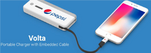 Load image into Gallery viewer, VOLTA PORTABLE BACK UP CHARGER WITH BUILT IN CABLE