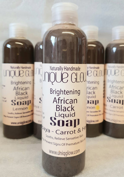 Brightening African Black  Soap with Papaya Carrot & Ayurveda Herbs