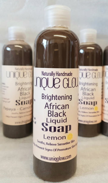 Brightening Africa Black Liquid Soap With Lemon