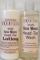 Sea Moss Head 2 Toe Wash & Lotion Set