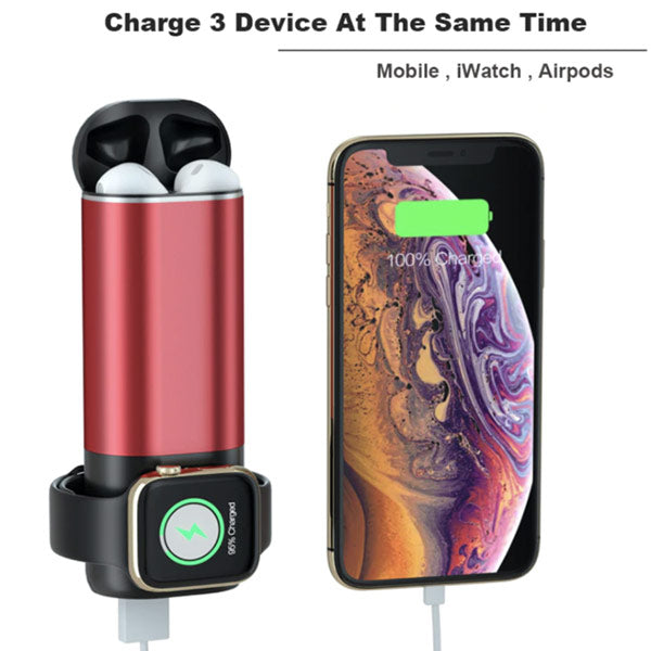 3 In 1 Portable Wireless Fast Charging for iPhone, AirPods & Apple Watch
