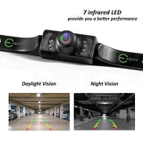 Vehicle Backup Camera, Esky Rear View Camera Waterproof High Definition Color Wide Viewing Angle License Plate Car Camera with 7 Infrared Night Vision LED