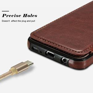 4 in 1 Luxury Leather Case For Samsung Phones