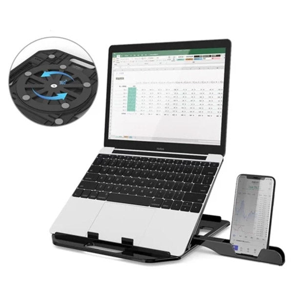 RestIt - Height Adjustable Laptop Stand with Fan