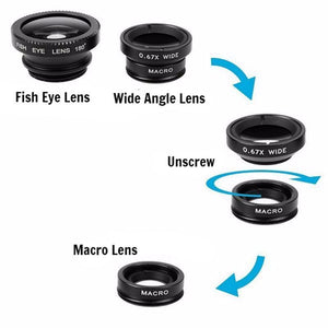 HD360X - 3 in 1 HD Smartphone Lens Kit