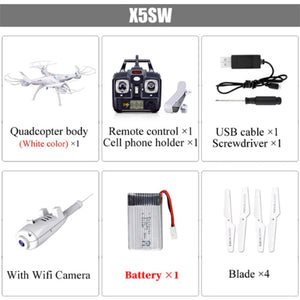 Quadcopter Drone With Real-time Wifi Camera