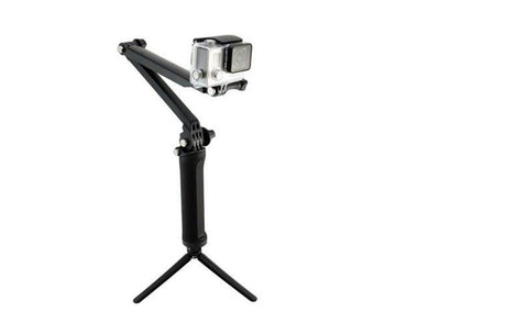 3-way Grip Arm Tripod Monopod for action camera