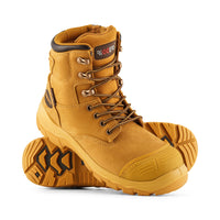 TORNADO V2 LACE UP ZIP SIDE SAFETY BOOT (BUMP CAP)-Riggers Online Store
