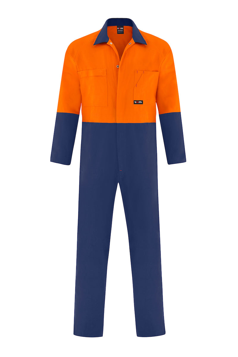 HIGH VIS HEAVY WEIGHT COTTON DRILL OVERALL (TWO TONE)