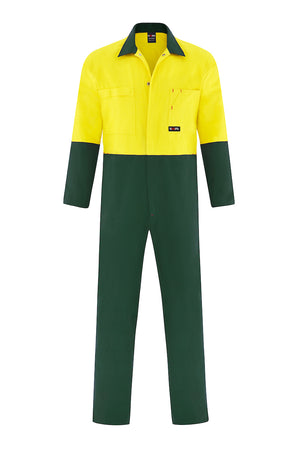 HIGH VIS HEAVY WEIGHT COTTON DRILL OVERALL (TWO TONE)-Riggers Online Store