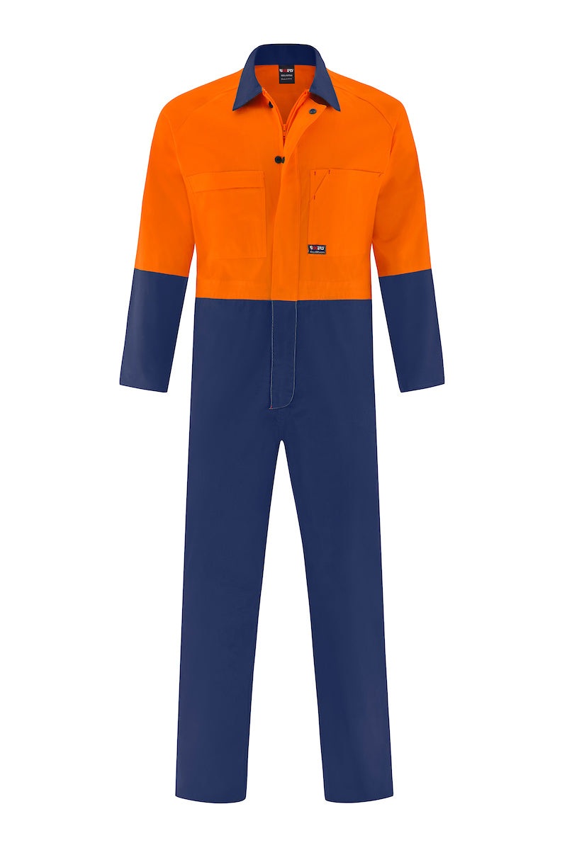 HIGH VIS LIGHT WEIGHT COTTON DRILL OVERALL (TWO TONE)-Riggers Online Store