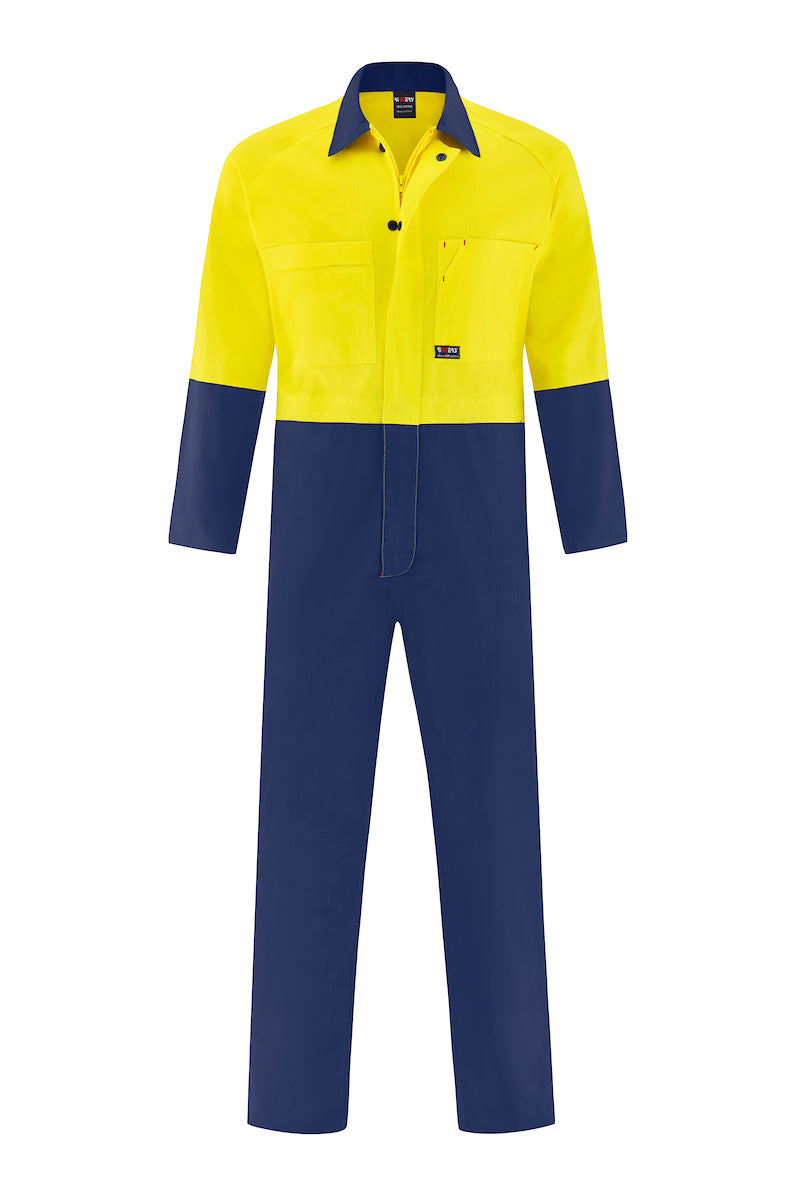 HIGH VIS LIGHT WEIGHT COTTON DRILL OVERALL (TWO TONE)