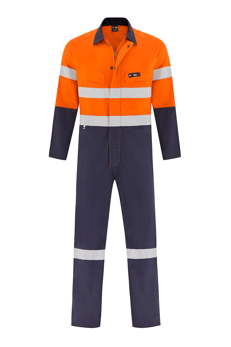 INDURA ULTRASOFT FIRE RETARDANT LIGHT WEIGHT HRC1 OVERALL (FR REFLECTIVE - TWO TONE)-Riggers Online Store