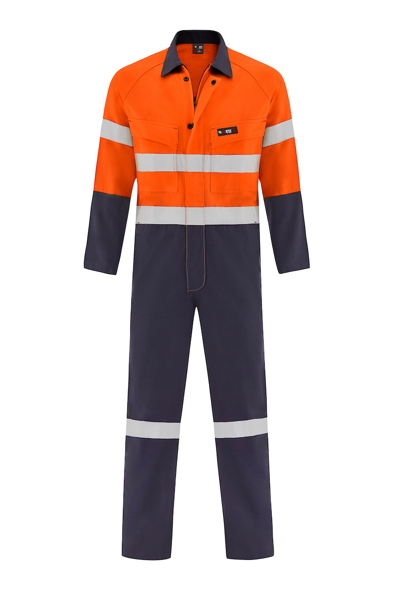 INDURA ULTRASOFT FIRE RETARDANT HRC2 OVERALL (FR REFLECTIVE - TWO TONE)