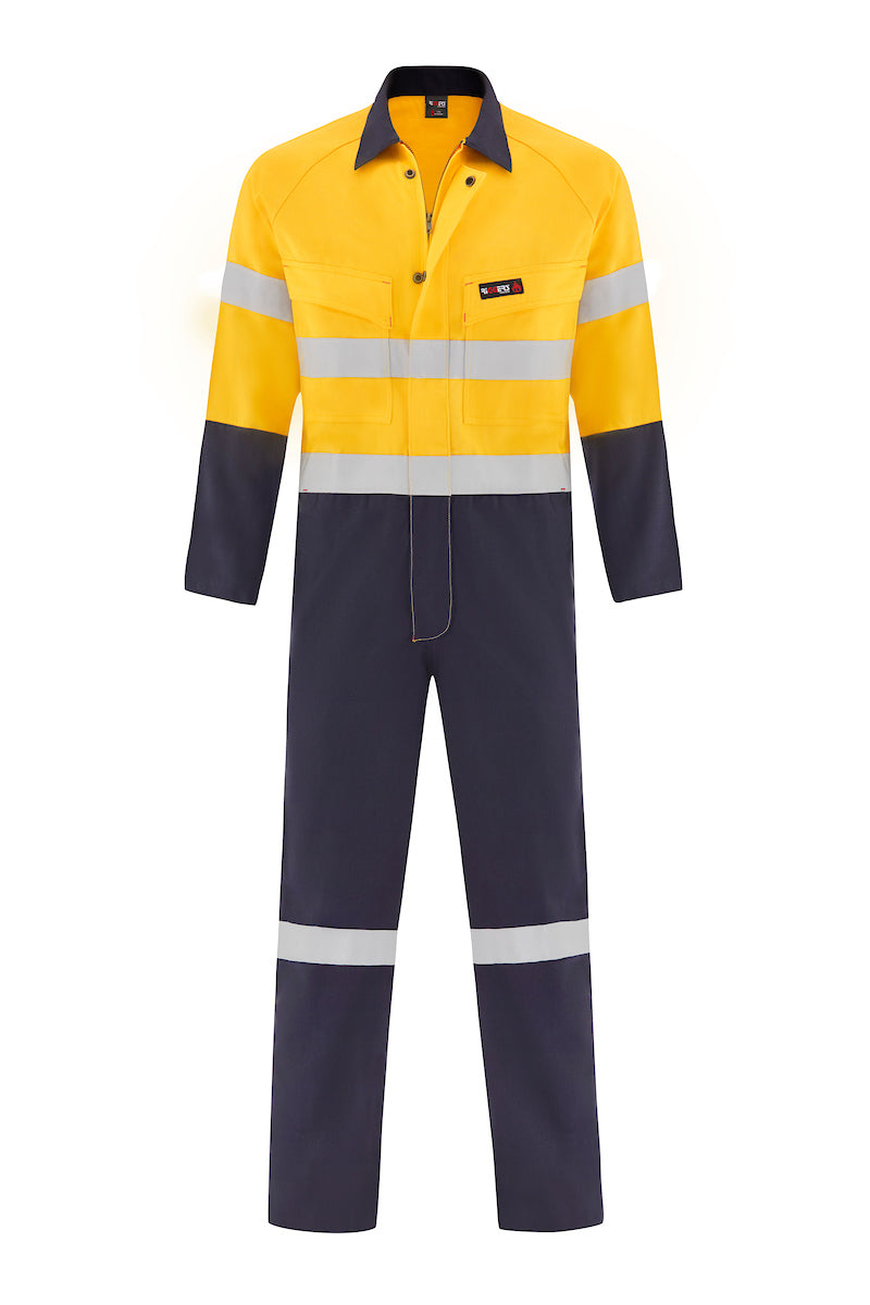 INDURA ULTRASOFT FIRE RETARDANT HRC2 OVERALL (FR REFLECTIVE - TWO TONE)-Riggers Online Store