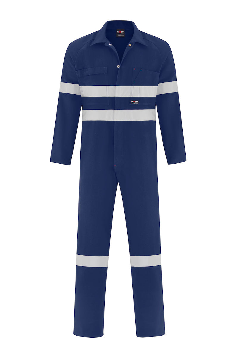 HEAVY WEIGHT COTTON DRILL OVERALL (REFLECTIVE)-Riggers Online Store
