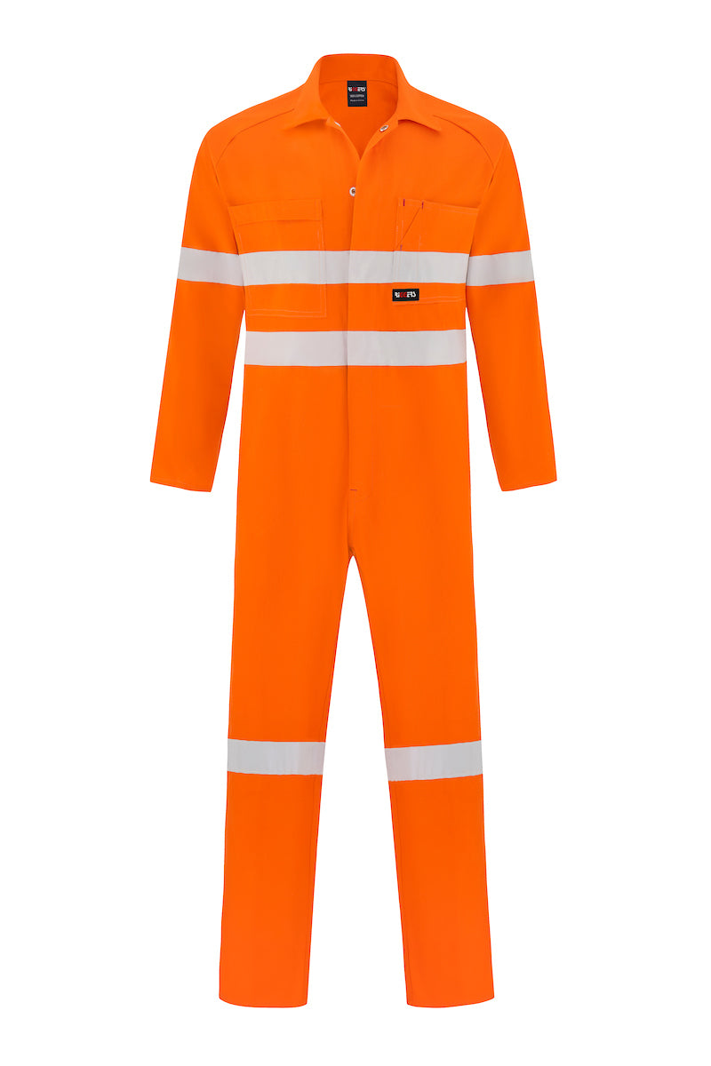 HIGH VIS HEAVY WEIGHT COTTON DRILL OVERALL (REFLECTIVE)-Riggers Online Store