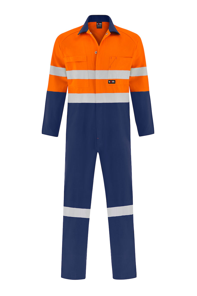 HIGH VIS HEAVY WEIGHT COTTON DRILL OVERALL (REFLECTIVE - TWO TONE)