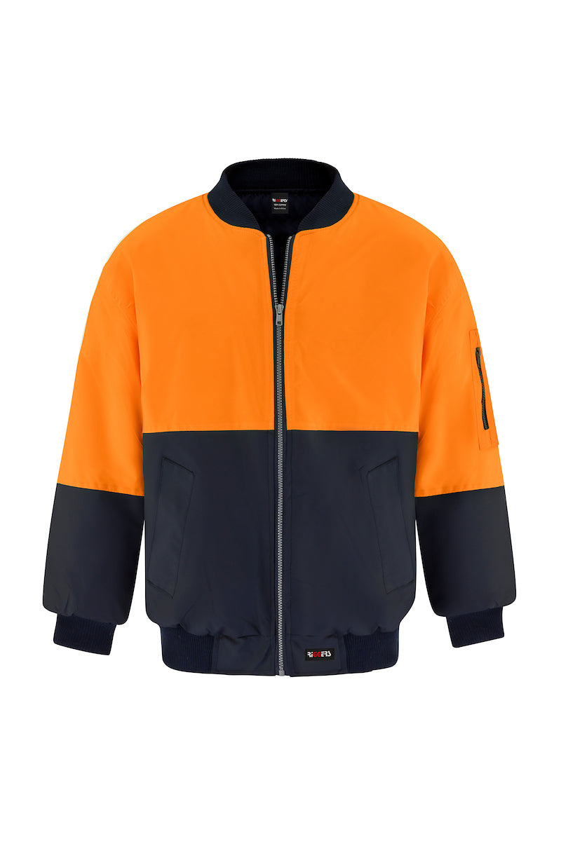 POLYESTER PU COATED FLYING JACKET (TWO TONE)
