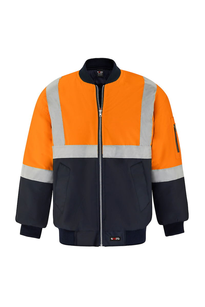 POLYESTER PU COATED FLYING JACKET (REFLECTIVE - TWO TONE)