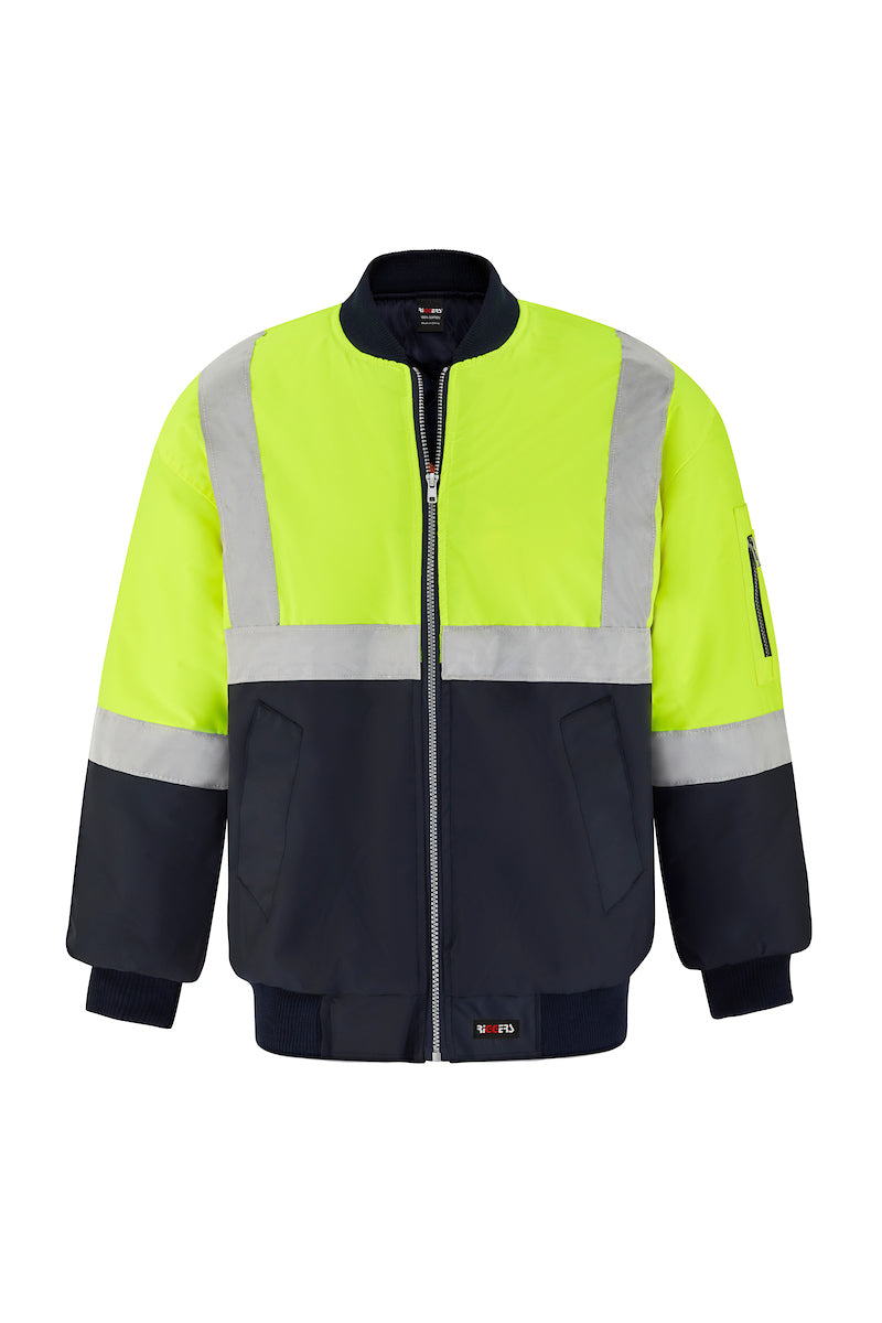 POLYESTER PU COATED FLYING JACKET (REFLECTIVE - TWO TONE)-Riggers Online Store