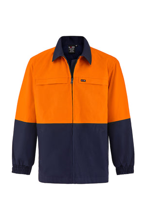 HIGH VIS HEAVY WEIGHT COTTON DRILL SAFETY JACKET (TWO TONE)-Riggers Online Store
